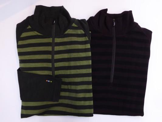 柄物のカラーは2色。左からオリーブ/ライトローデン・スマトラヘザー