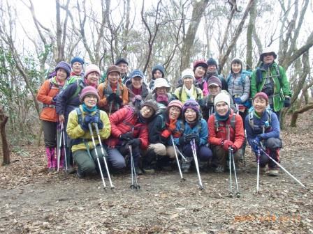 三郡→仏頂山への縦走路にて