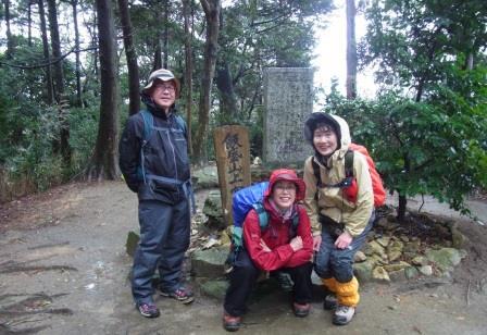 飯盛山の山頂にて