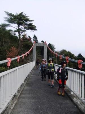 吊り橋コースを